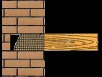 Заделка деревянной балки перекрытия